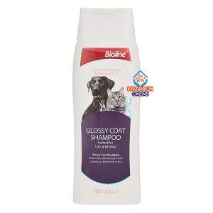 Bioline Glossy Coat Shampoo For Cats & Dogs 250ml