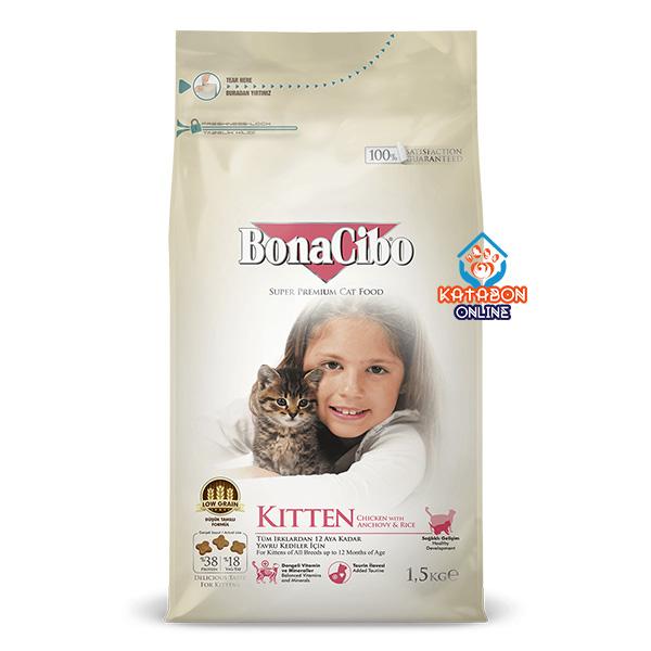 BonaCibo Super Premium Kitten Dry Food For All Breeds 1.5kg