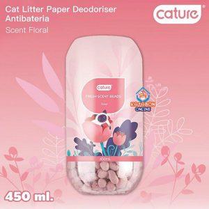 Cature Cat Litter Deodorizer Fresh Scent Beads Floral Flavour 450ml