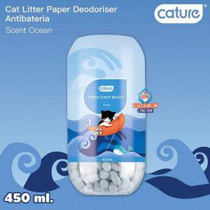 Cature Cat Litter Deodorizer Fresh Scent Beads Ocean Flavour 450ml