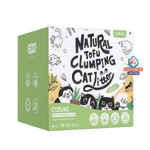 Cature Tofu Pellets Green Tea Natural Tofu Clumping Cat Litter 17.6Lbs (8kg)