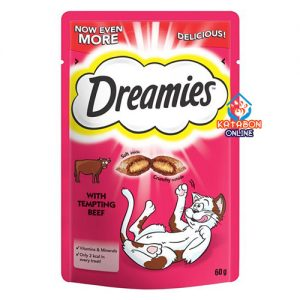 Dreamies Cat Treat With Tempting Beef 60g