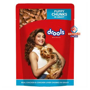 Drools Puppy Wet Food Real Chicken & Chicken Liver Chunks In Gravy 150g