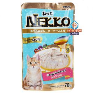 Foodinnova Nekko Adult Pouch Wet Cat Food Tuna In Gravy 70g
