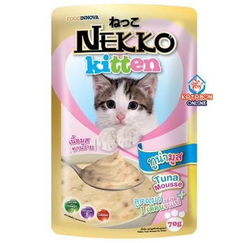 Foodinnova Nekko Kitten Pouch Wet Cat Food Tuna Mousse 70g