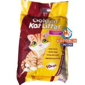 Golden Kat Cheapest Clumping Cat Litter Lavender Flavour 5kg