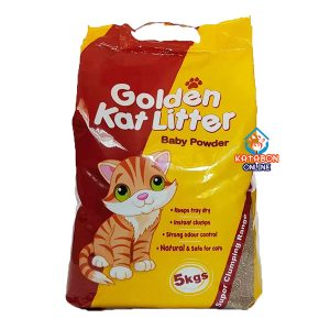Golden Kat Cleapest Clumping Cat Litter Baby Powder Flavour 5kg