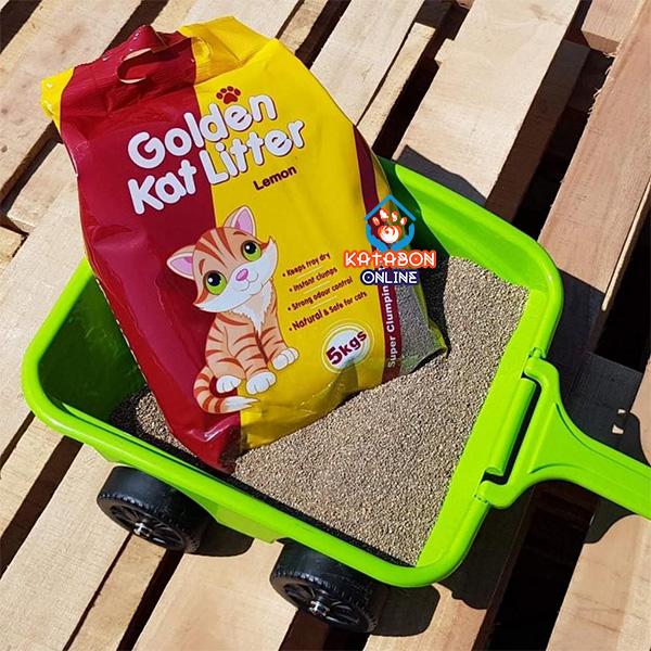 Golden Kat Cheapest Clumping Cat Litter Lemon Flavour 10kg