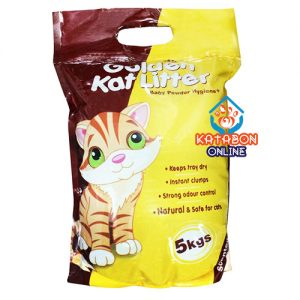 Golden Kat Cleapest Clumping Cat Litter Unscented 5kg