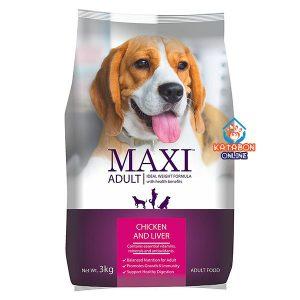 Maxi Adult Dry Dog Food Chicken Liver 3kg
