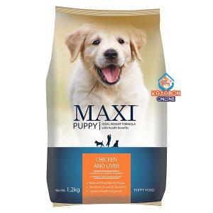 Maxi Puppy Dry Dog Food Chicken Liver 1.2kg