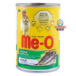 Me-O Can Adult Cat Wet Food Sardine In Prawn Jelly 400g