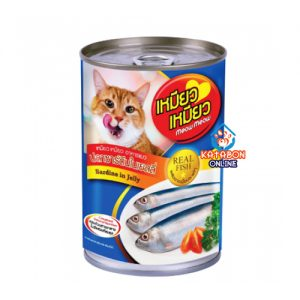 Meow Meow Can Wet Cat Food Sardin In Jelly 400g