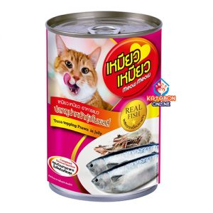 Meow Meow Can Wet Cat Food Tuna Topping Prawn In Jelly 400g