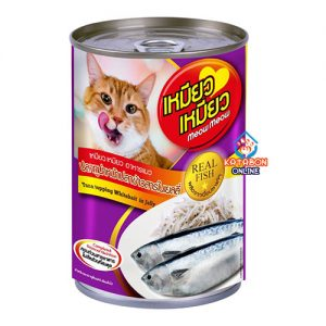 Meow Meow Can Wet Cat Food Tuna Topping Whitebait In Jelly 400g