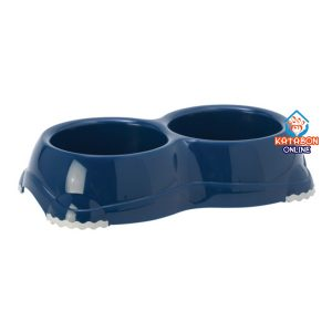 Moderna Cat Double Smarty Feeding Bowl 2 x 330ml - Blue Berry