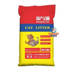 Naughty Cat Bentonite Clumping Litter Lavender Flavor 5L