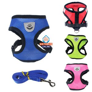 Pet Chest Adjustable Harness With Leash For Cats & Puppy 01