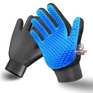 Pet Grooming Gloves For Hair Remover, Effective Massage & Bathing