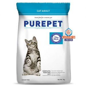 Purepet Adult (1+ Year) Cheapest Dry Cat Food Ocean Fish Flavour 7kg