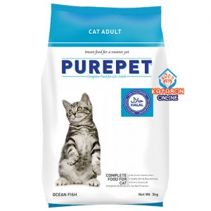 Purepet Adult (1+ Year) Dry Cat Food Ocean Fish Flavour 3kg