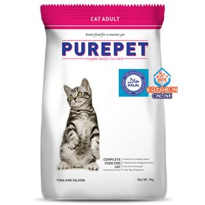 Purepet Adult (1+ Year) Dry Cat Food Tuna And Salmon Flavour 7kg