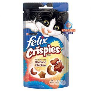 Purina Felix Crispies Cat Treat Beef And Chicken 45g