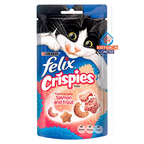Purina Felix Crispies Cat Treat Salmon And Trout 45g