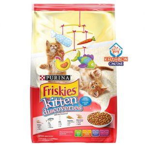 Purina Friskies Kitten Discoveries Dry Cat Food Tuna, Chicken, Milk, Vegetables & Whole Grain Flavours 400g