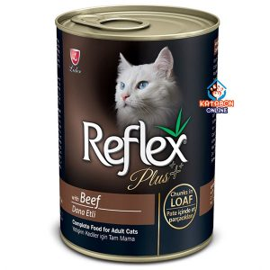 Reflex Plus Canned Wet Cat Food Beef Chunks In Loaf 400g