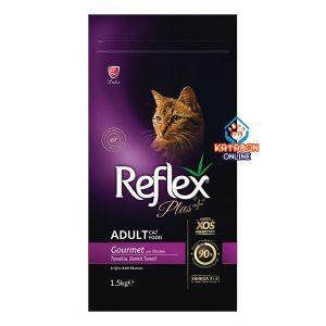 Reflex Plus Super Premium Adult Dry Cat Food Gourmet Chicken 1.5kg