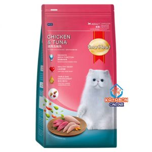 SmartHeart Adult Dry Cat Food Chicken & Tuna Flavour 480g