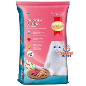 SmartHeart Adult Dry Cat Food Chicken & Tuna Flavour 7kg