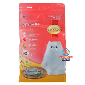 SmartHeart Adult Dry Cat Food Mackeral Flavour 1.2kg