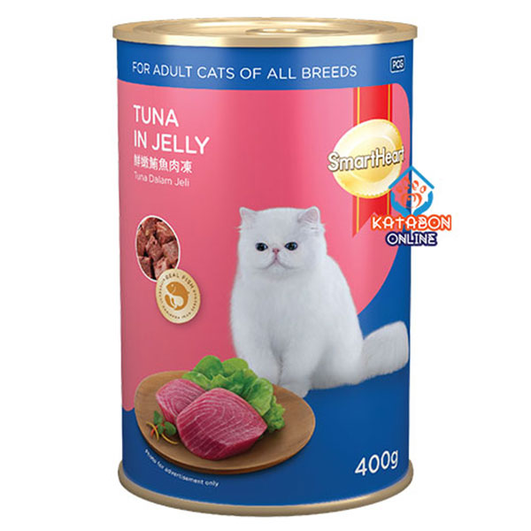 SmartHeart Canned Wet Cat Food Tuna In Jelly 400g