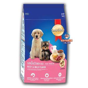 SmartHeart Puppy Dry Dog Food Beef & Milk Flavour 3kg