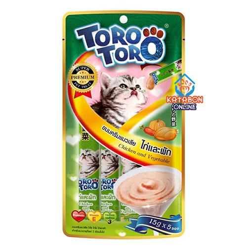 Toro Toro Lickable Cat Treat Chicken & Vegetable 5 x 15g