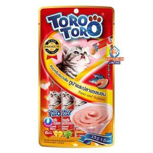 Toro Toro Lickable Creamy Cat Treat Tuna & Salmon 5 x 15g