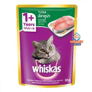 Whiskas Pouch Adult Wet Cat Food Tuna 85g