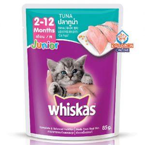 Whiskas Pouch Kitten Junior Wet Cat Food Tuna 85g