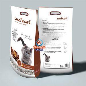 CoziCat Premium Clumping Cat Litter Coffee Flavour 5Ltr