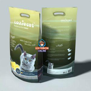 CoziCat Premium Clumping Cat Litter Lemon Flavour 10Ltr