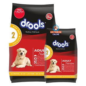 Drools Adult Dry Dog Food Chicken And Egg 3kg + 1.2kg Pack Free
