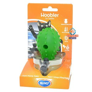 Duvo+ Woobler Cat Tumbler Toy Kaktus Green